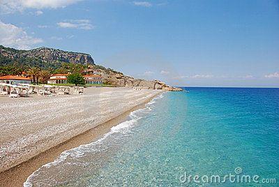 Beach at hotel in Kiris (Kemer), Turkey