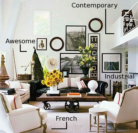 Eclectic Style Interior Design Using A Variety Of Periods And Styles Brought Together Through