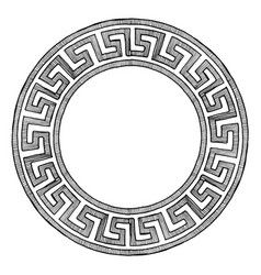 Ancient greek round ornament vector image on in 2020