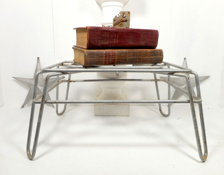 Industrial Metal Footstool Ottoman, Hairpin Legs, Industrial Furniture, Mid  Century Footstool Bench Riser