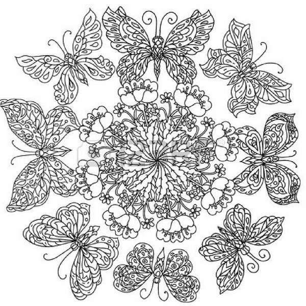 Con Mariposas Significado Y Disenos Para Colorear Con Mariposas