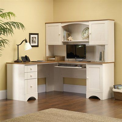 sauder harbor view corner computer desk with hutch home furniture showroom