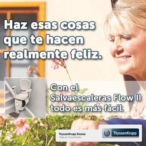 ''Haz cosas que te hacen realmente feliz.... con el Salvaescaleras FlowII'' #salvaescaleras #accesibilidad #TKEC