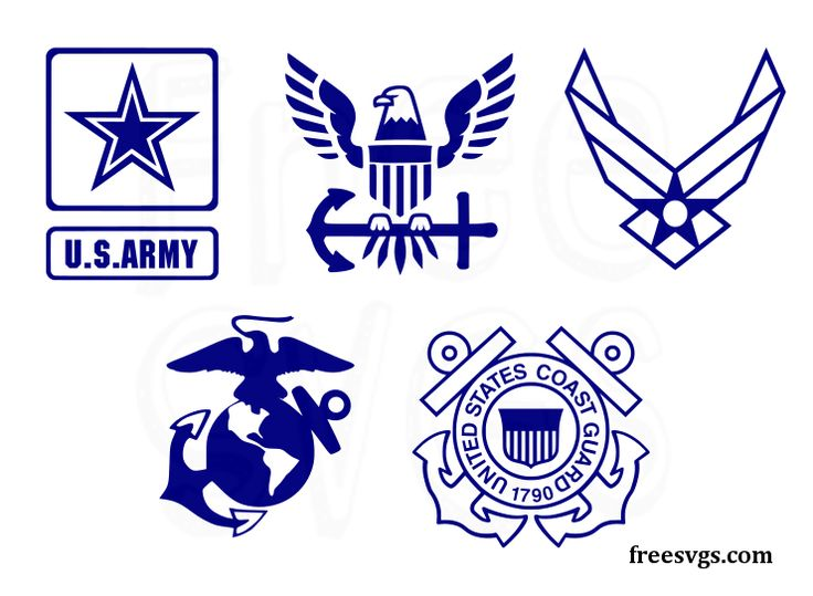 Download Set of United States Militay Logos in SVG file format ...