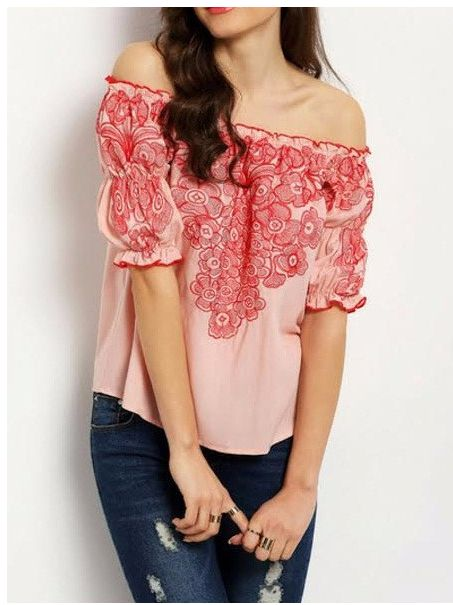 This trendy off shoulder top from Felomhe with a handpicked with oriental print will add a fresh feel to your day time dressing style. It is an easy-breezy piece, definitely must have. You can also check out trendy tops online @ RedPolka