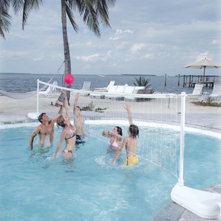 Dunn Rite Aqua Volly Portable Pool Volleyball Set | from hayneedle.com