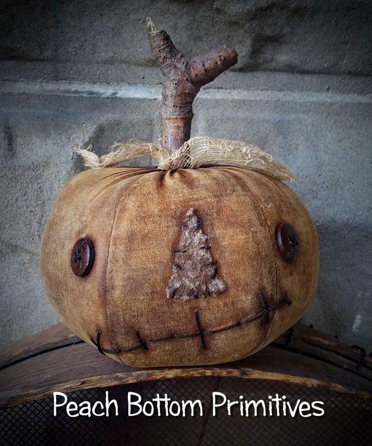 Primitive~Grungy Extreme Little Pumpkin Jack Sitter Fall Halloween #NaivePrimitive