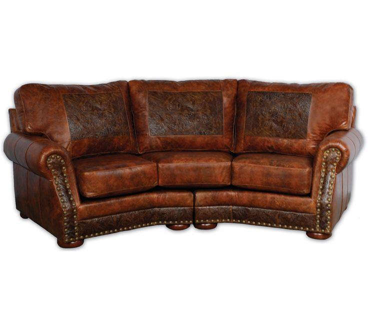 Cameron Ranch Curved Sofa Big Sky Decor Go WESTERN