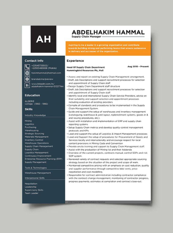 Modern Resume Template / CV Template + Cover Letter