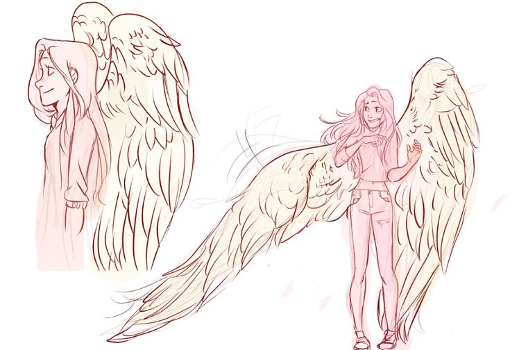 "mumiro: "" I wanted a reason to sketch wings so here's a Wing AU(?)✿ """