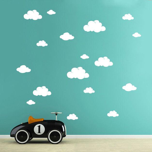 100% Rauhfaser tauglich   Kinderzimmerwandtattoo Wandtattoo Wolken Wolke Wölkchen in 5 unterschiedlichen Größen M1756  Wandtattoo Wandtattoo Wolken Wolke Wölkchen   **Wandtattoo Wandaufkleber...