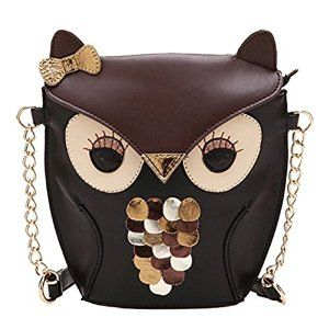New Fashion Women Leather Handbag Cartoon Bag Owl Fox Shoulder Bags: Amazon.co.uk: Sports & Outdoors