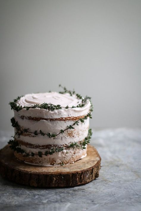 Blood Orange Thyme Cake