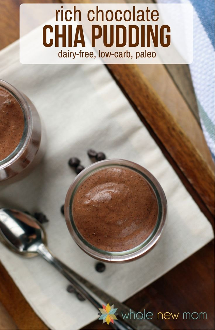 This Chocolate Chia Pudding is Dairy and Sugar-free and sooo nutritious--you can eat it for breakfast! Chocolate Pudding for Breakfast? Yes, Please!