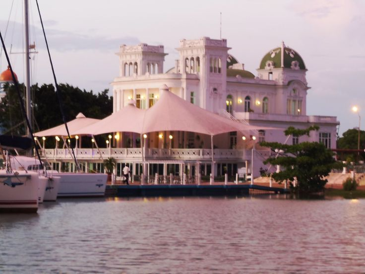 Every late afternoon, music drifts from the yacht club at Marina Jagua, along with laughter from the swimming pool. It is an exquisite fairytale building, almost a dream. (Photo by Kathryn MacDonald)