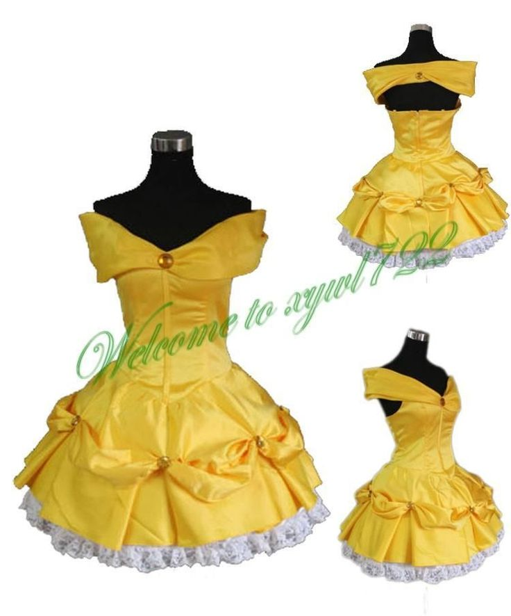 Beauty and the Beast Belle Princess Dress Made Cosplay Costume For Party New #Unbranded #Dress