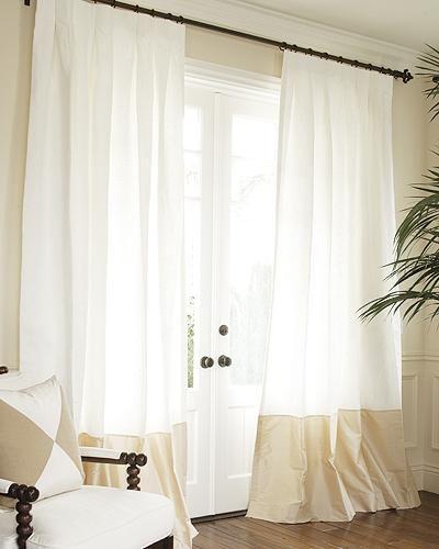 window treatments silk bordered classic linen custom drapery sale in progress drapestyle 800