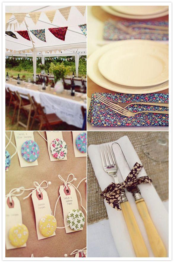 fabric wedding ideas