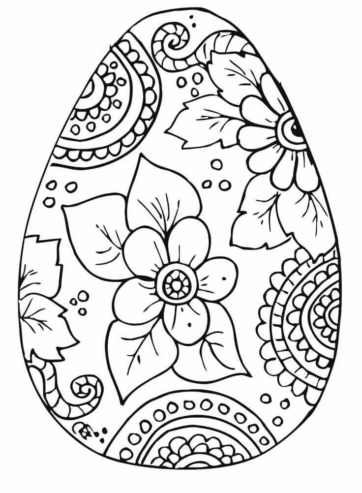 Disegno motivi floreali, come colorare le uova di Pasqua