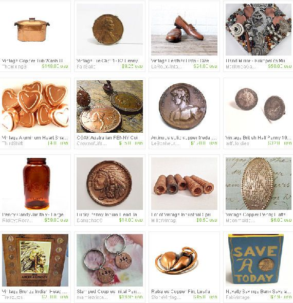 Find a Penny... vintage Penny Etsy Treasury, Epsteam, copper, coin, change,pennies, copper penny, penny loafer, souvenir, coins, money, coin collection, for sale, vintage money