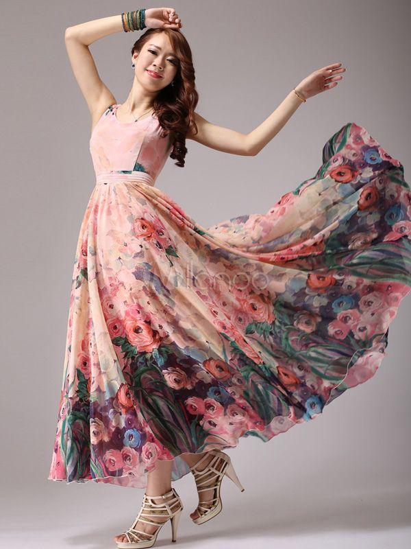 d6a687a03c maxenout.com floral print maxi dress (26) #cutemaxidresses   Dresses &  Skirts   Chiffon maxi dress, Dresses, Floral print maxi dress