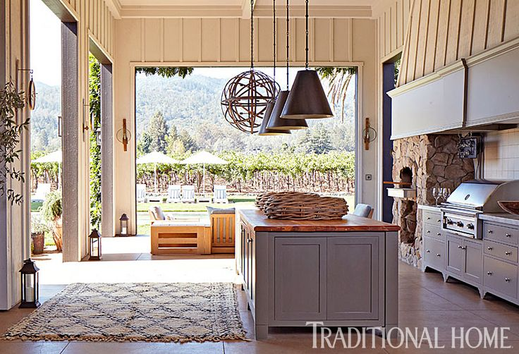 Wine country outdoor kitchen outdoor bars kitchens for Country outdoor kitchen