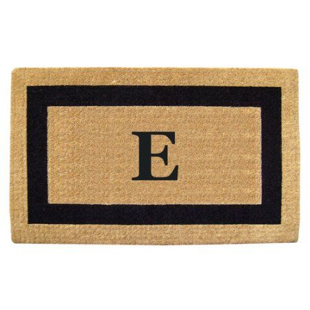 Inspired Accents Heavy Duty Coco Mat, Black Single Picture Frame, Monogrammed