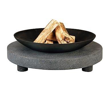 Braciere con supporto in granito ad anello, 68x68x23 cm