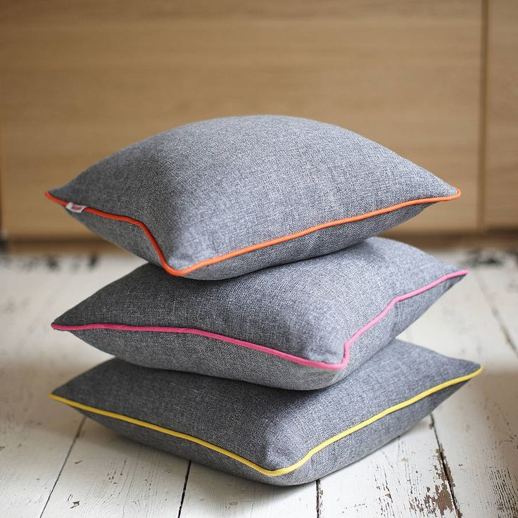 Grey & Neon Piping Cushion.