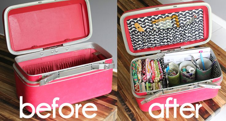 Redoing the lining of a Train Case.