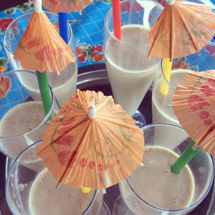 Milkshakes gemaakt...heerlijk fris! #kiwi #banaan