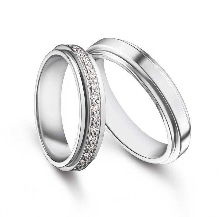 """Possession"" platinum diamond wedding bands by Piaget"