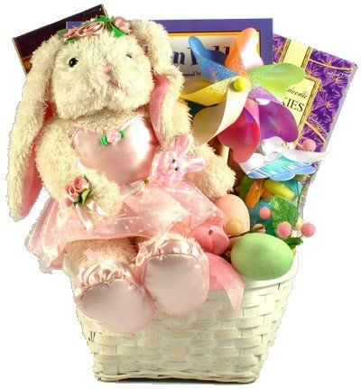 100 best gifts baskets images on pinterest easter gift baskets gift basket village ballerina bunny deluxe easter basket for girls presenting belle a positively precious 15 inch plush bunny dressed in her prettiest negle Choice Image