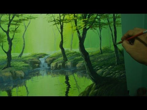 Acrylic Landscape Painting Lesson - The Forest River by JM Lisondra - YouTube