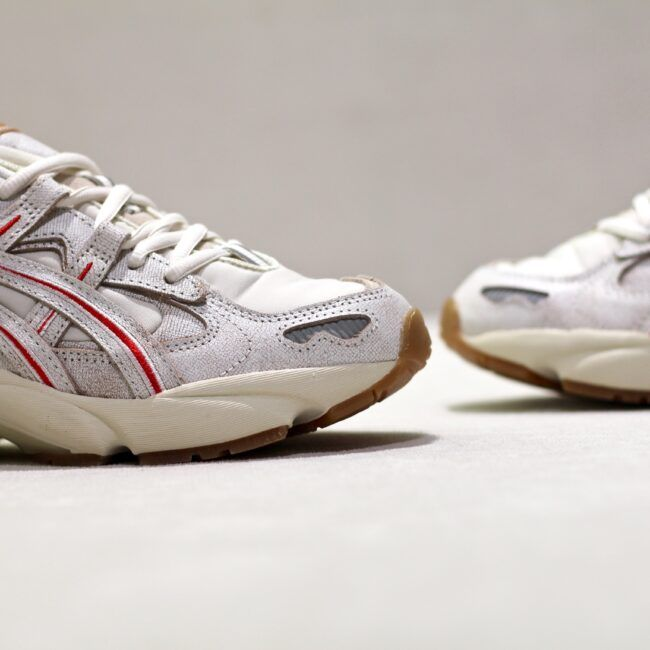 asics blanche gomme