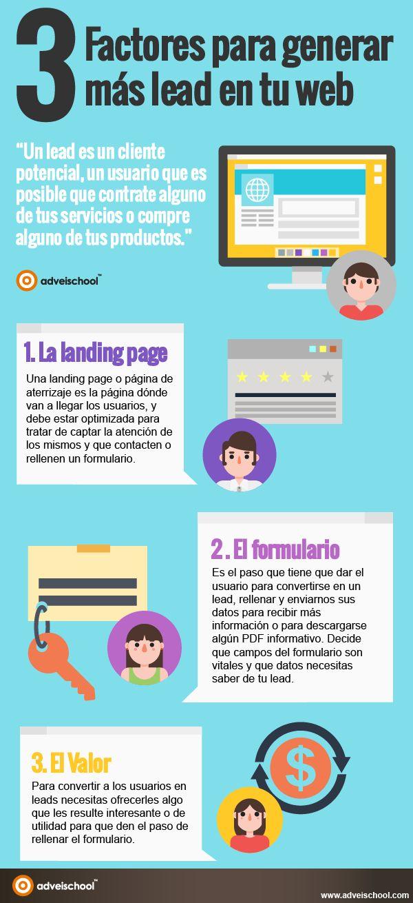 3 factores para generar más Leads en tu Web #infografia