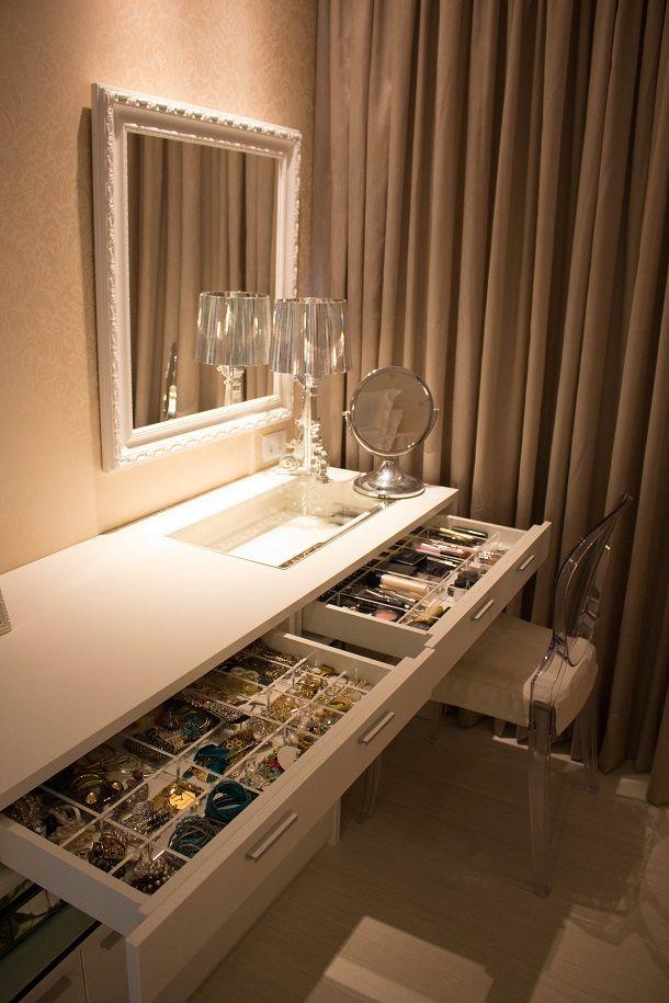 Para inspirar a arrumação do nosso Quarto. #luxury #makeup #decor