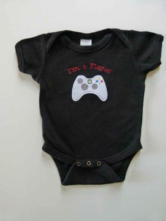 Funny Baby Onesie Im A Player With Xbox Control Game By