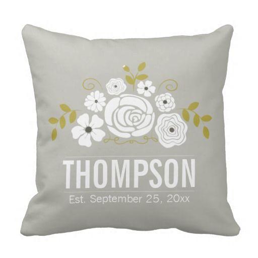 Vintage Bouquet Keepsake Throw Pillow