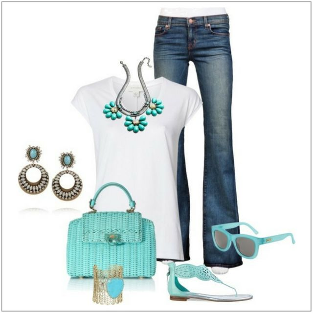 CHATA'S DAILY TIP: Read today's taste of turquoise fashion tip here:   Provided by Chata Romano Image Consultant, Marlise Du Plessis. Image credit: Pinterest #fashion #style #imageconsultant
