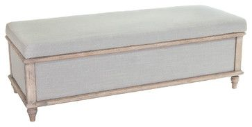 Abilene Fabric Storage Ottoman - tropical - ottomans and cubes - Great Deal Furniture