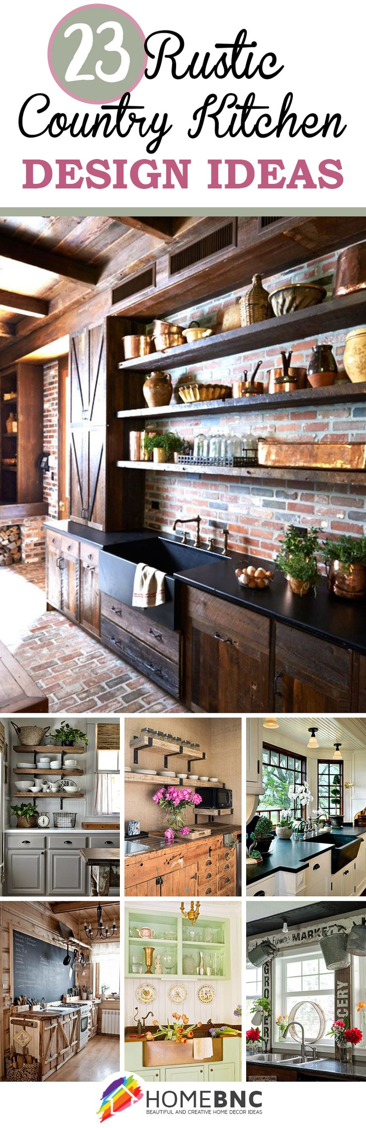 Rustic Country Kitchen Decorations