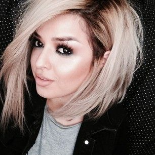 Lob long bob ombre hair, short haircut