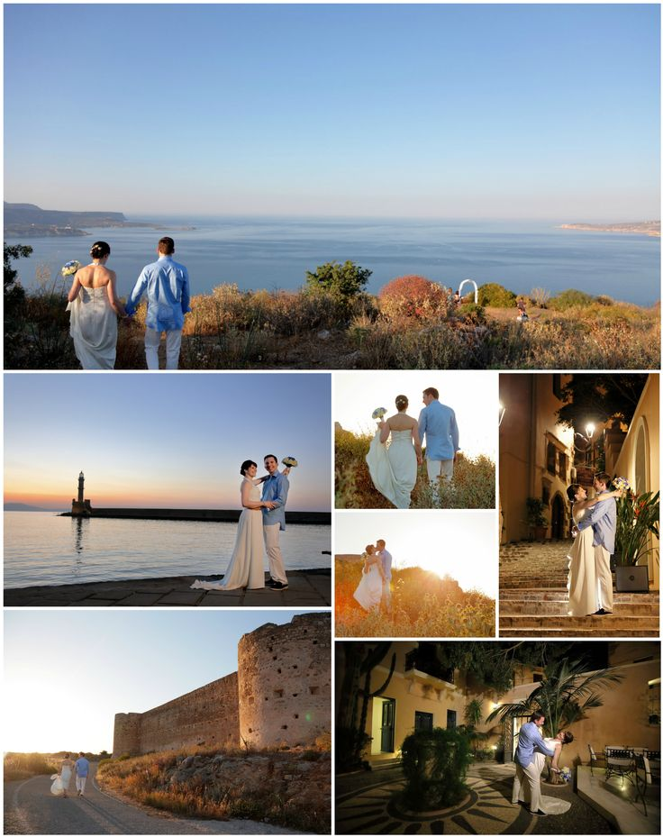 They came from Ontario to elope in Crete - just the two of them and these stunning views at this wedding in Chania area
