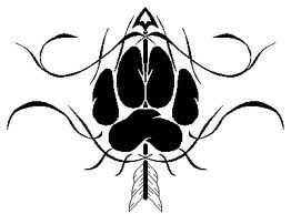 wolf paws tattoo - Google Search