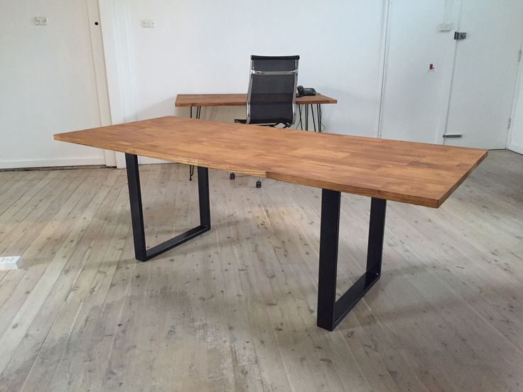 Made to order    Custom Sizes    Pair of rectangular U shaped steel table legs    Powder coated in black    Powder coated in white (extra cost)    Great for DIY project    Can be made at different heights and widths to suit coffee table , dining   table , bar table , desk etc.