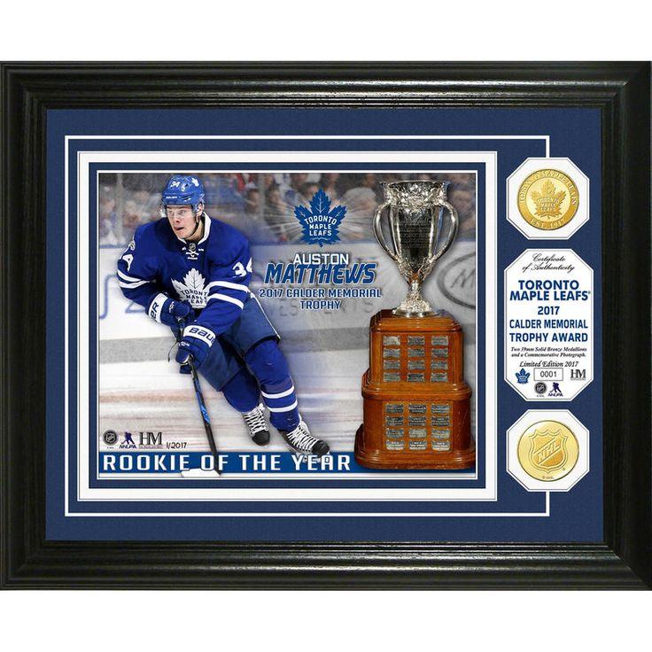Toronto Maple Leafs Highland Mint Auston Matthews 2017 NHL Calder Memorial Trophy Bronze Coin Photomint