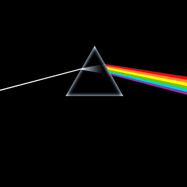 """""""DARK SIDE OF THE MOON""""- Pink Flloyd record album cover"""