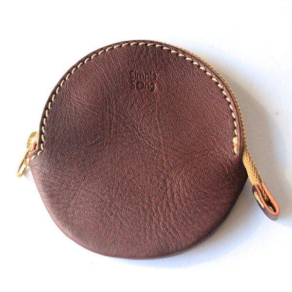 Кожаный чехол монета была «◯». Кожа - ручная работа изделия из кожи «SimpleSong»