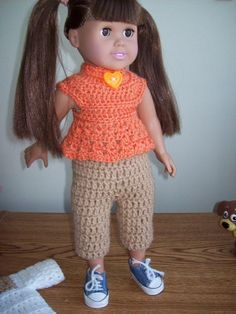 "Safari - 18"" doll --image intense - Free Original Patterns - Crochetville"